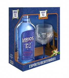 Gin Larios Premium 12 40º with glass