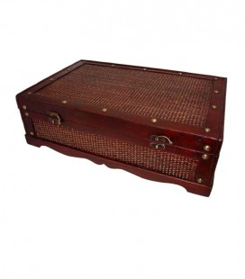 BAMBOO WOODEN CHEST FOR 6 BOTTLES