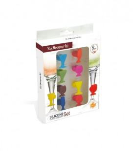 Bookmarks Glasss Vin Bouquet (8 uds)