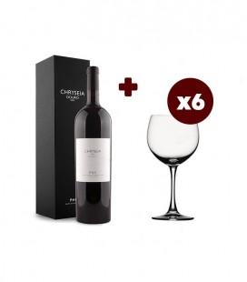 Set Chryseia Red Wine Magnum + 6 Glass Soiree Burgundy
