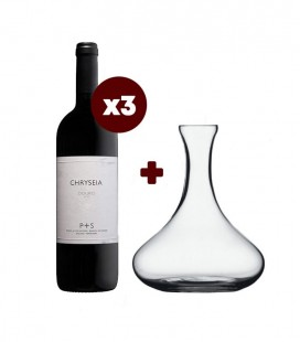 Set 3 Chryseia Red Wine 2017 + Decanter Spiegelau Grand Palais
