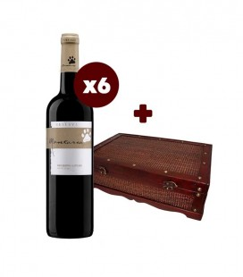 Set 6 x Montaria Reserva Red Wine 2017 + Bamboo wooden chest for 6 bottles