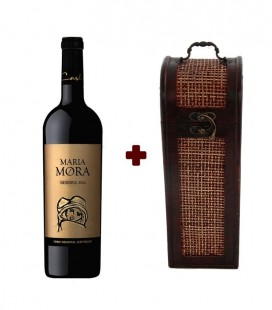 Set Maria Mora Reserve Red Wine 2014 + Bamboo Wooden Chest