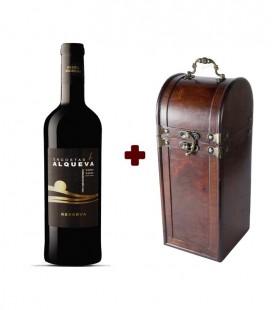 Set Encostas d Alqueva Reserve 2014 Red Wine (1,5L) + Magnum Bottle Wooden Chest