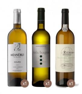 Meandro White 2018 + Redoma White 2018 + Três Bagos Sauvignon Blanc 2018