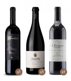 Redoma Red + Brunheda Reserve Red + Crasto Superior Red Wine