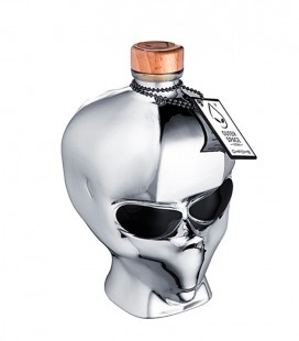 Vodka Outerspace Alien Head Chrome Edition