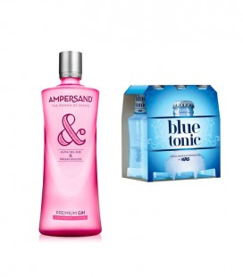Pack Gin Ampersand Strawberry + 6 Tonic Water Blue